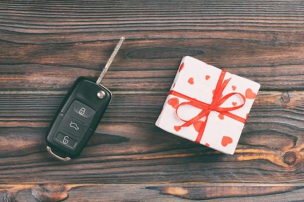 Valentine's gift box and car key