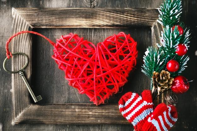 Valentine scene with love elements