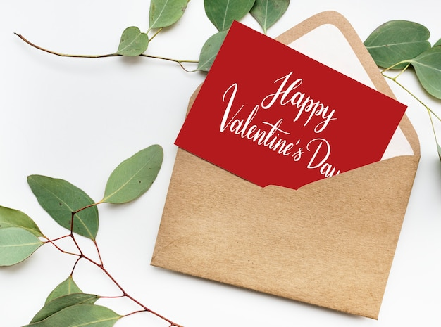 Valentines card with envelope