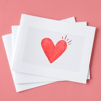 Valentines cards in a pile