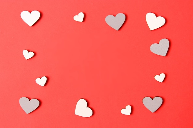 День святого валентина фон в сердечках в стиле минимализм