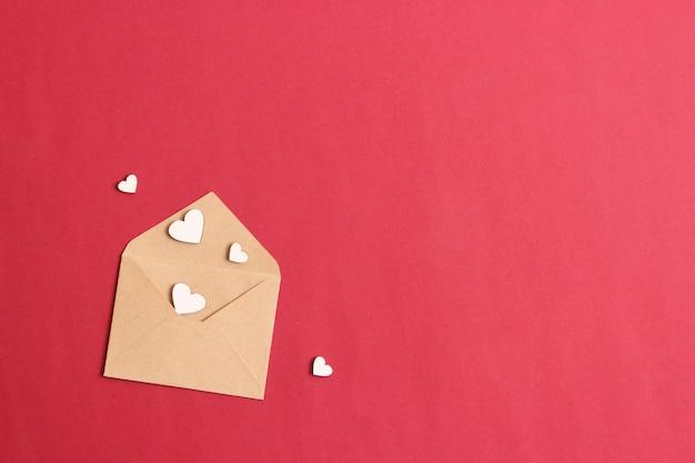 미니멀리즘 스타일의 마음에 발렌타인 데이 배경