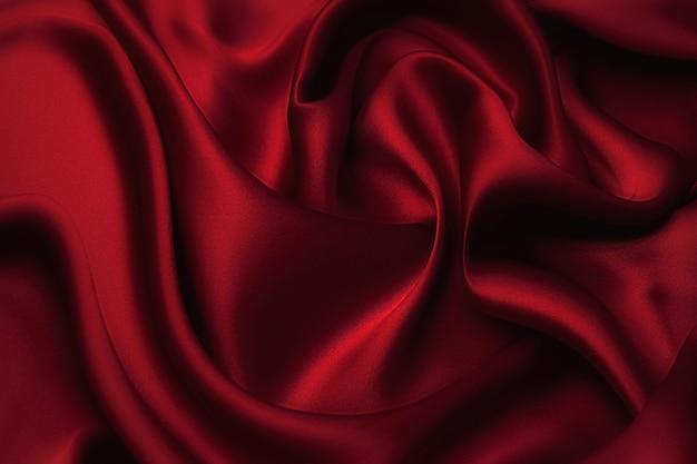 День святого валентина фон, валентина сердце красная шелковая ткань, свадебная любовь