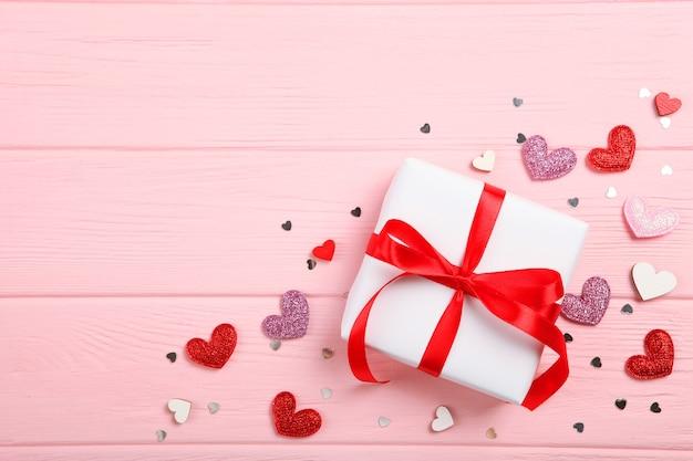 텍스트를 삽입할 장소가 있는 발렌타인 데이 배경