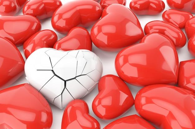 День святого валентина фон с концепцией разбитого сердца.