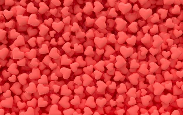 День святого валентина конфеты сердца фоновый узор 3d рендеринг иллюстрации