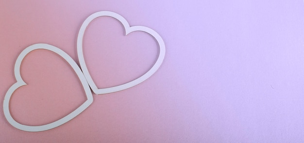 Valentines day card - heart on the pink background