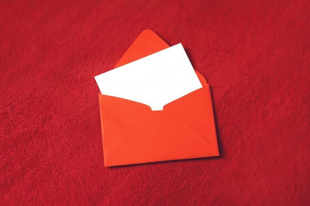バレンタインの日グリーティングカード、モックアップ