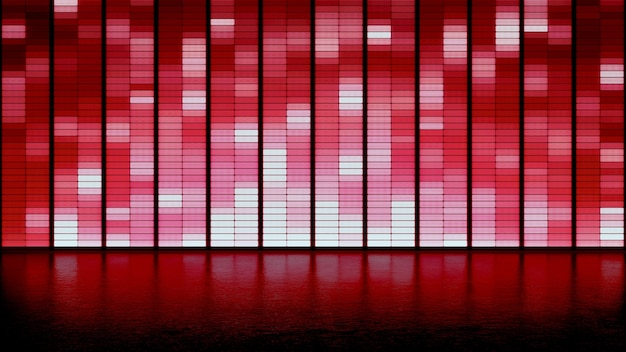 Valentines day led panel wall background