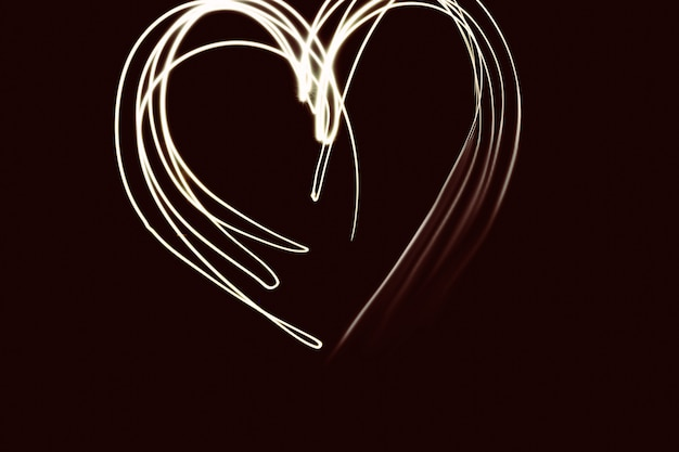 Valentines day, romantic photo. glittering, glossy, heart, painted light