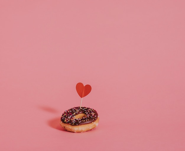 Valentines day surprise donut