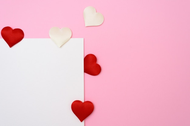 Valentines day or wedding mockup scene with blank card