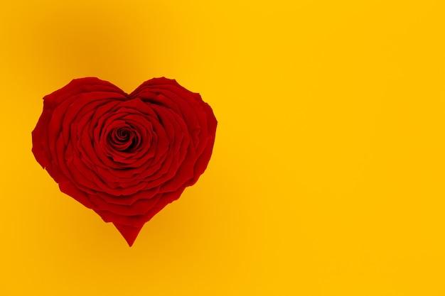赤いバラの心とバレンタインデー