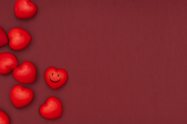 San valentino' cuori bordo plastilina argilla fai da te