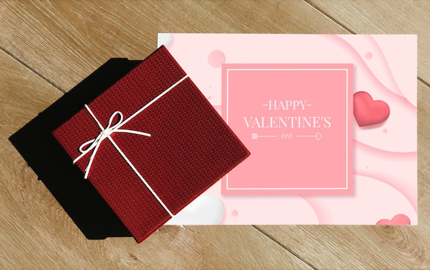 Valentines surprise gift and card
