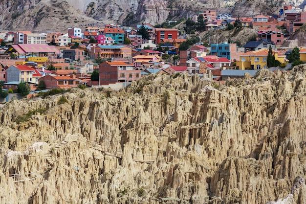 볼리비아 라 파스의 valle de la luna. 특이한 자연 경관 아름다운 곳