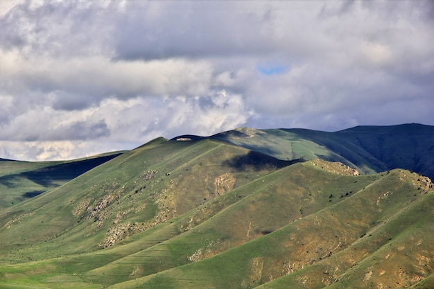 The valley in caucasus mountains of armenia