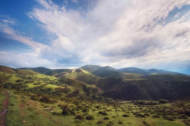 Valley landscape in la rioja, spain.