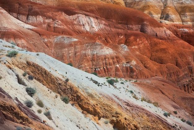 화성의 계곡 풍경 프리미엄 사진