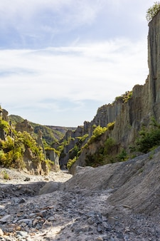 Долина вершин путангируа. северный остров, новая зеландия