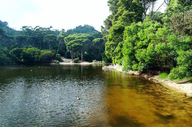 ペナの公園で湖の谷