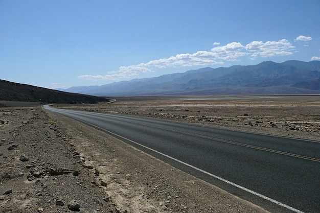 Valley scenery road death california usa endless