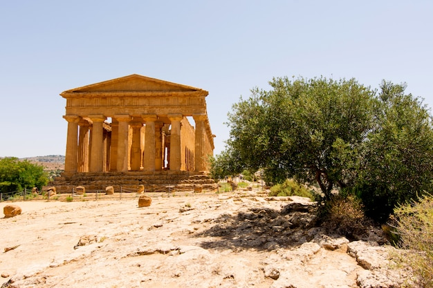 Valley of temples, agrigento sicily in italy,