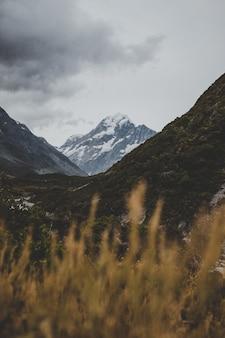 뉴질랜드의 마운트 쿡이 보이는 밸리 트랙