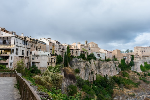 Valley where the casas colgadas(hanging houses) are located in cuenca
