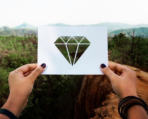 貴重品の宝石の穿孔された紙のダイヤモンド