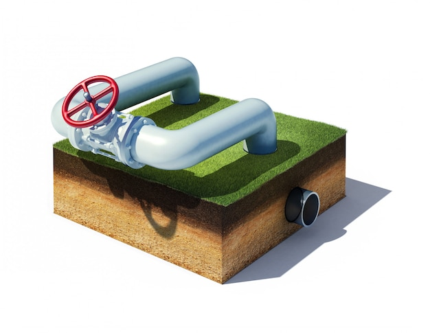 ガスまたはオイルの産業パイプラインのバルブ