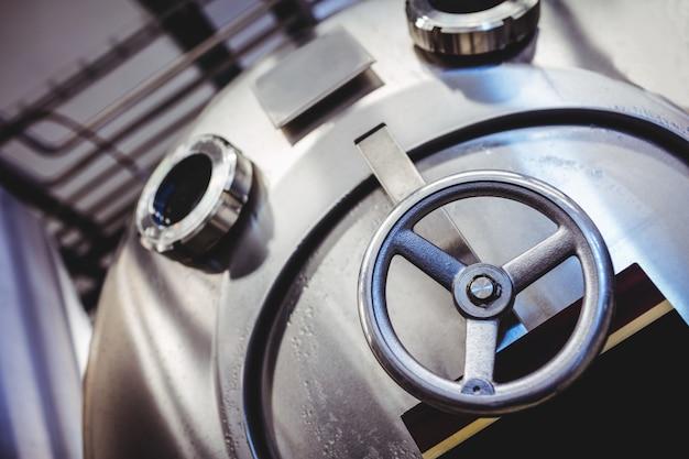 Valve on storage tank at distillery