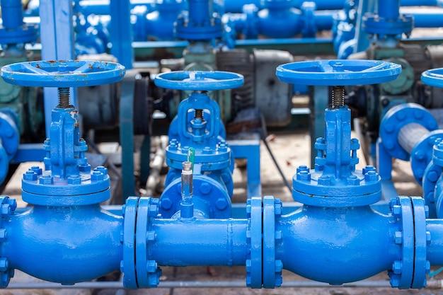 Клапаны на газовом заводе