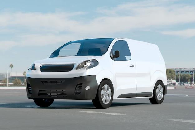 Van on a parking lot ing