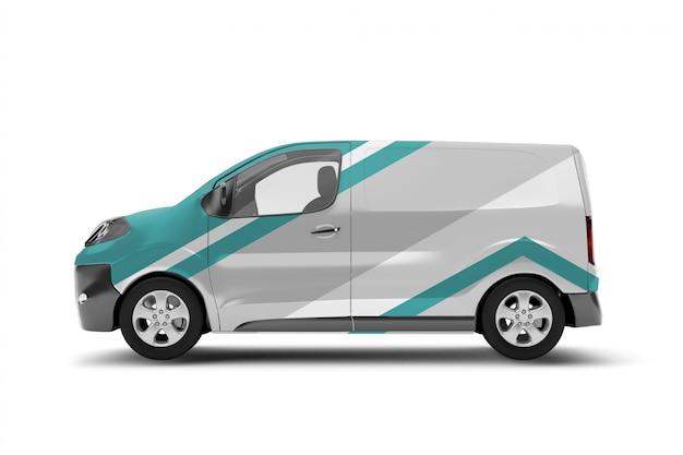 Van on white - 3d rendering
