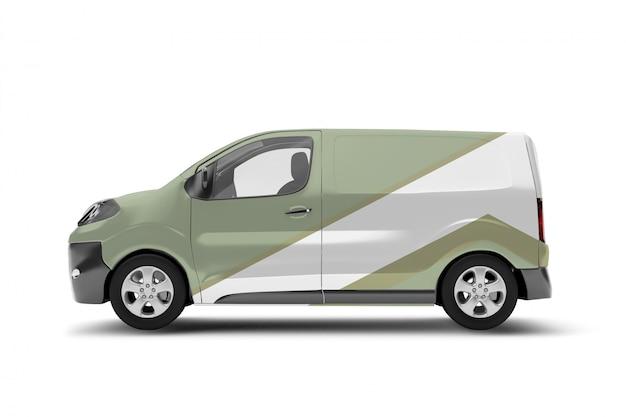 Van on a white - 3d rendering