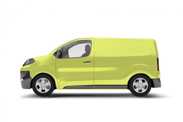Van on a white background ing