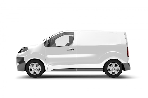 Of a van on white