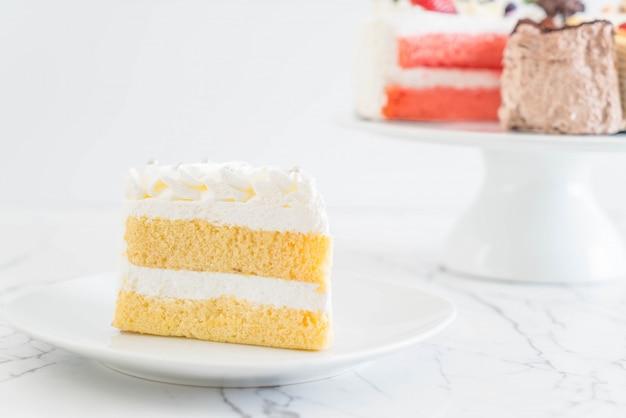 Vanilla cake on white