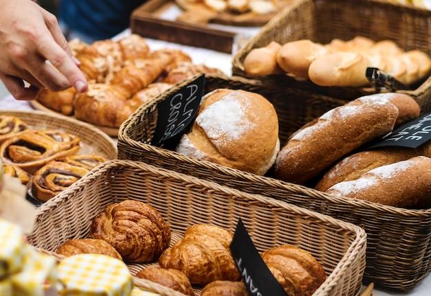 Variation of homemade baked pastry cuisine