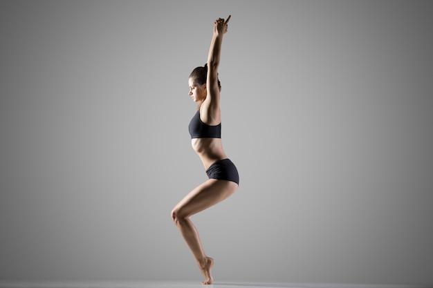 Variation of utkatasana yoga pose