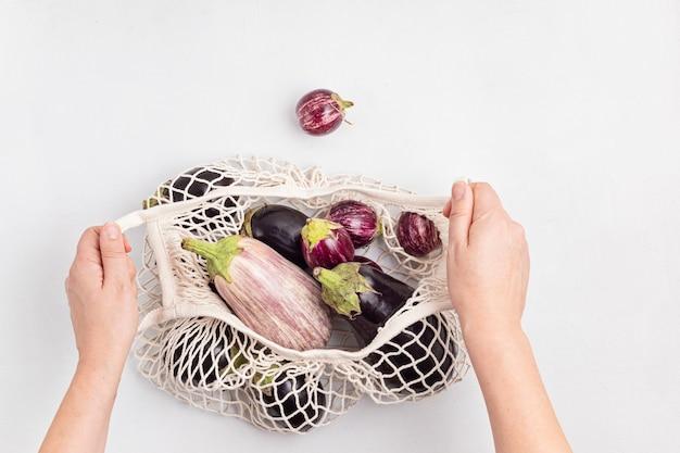 分離された有機ナス作物の品種