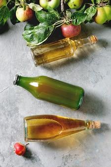 Variety of apple drinks