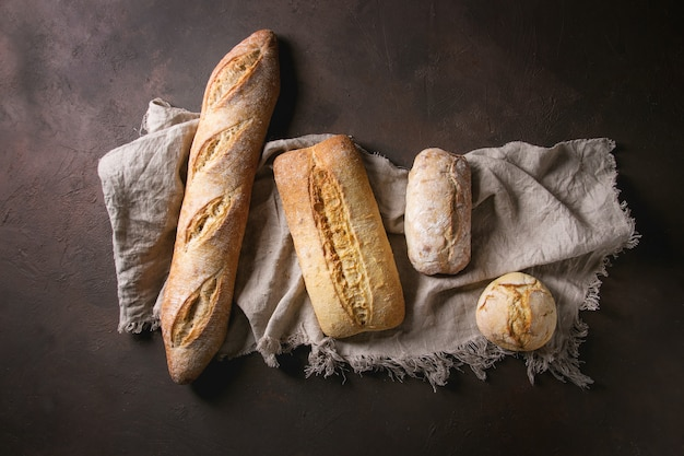 Variety of artisan bread