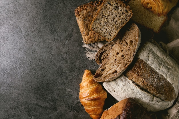 Variety of fresh baked bread