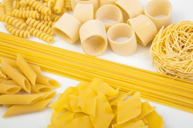 Variety of italian pasta