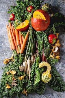 秋の収穫野菜各種