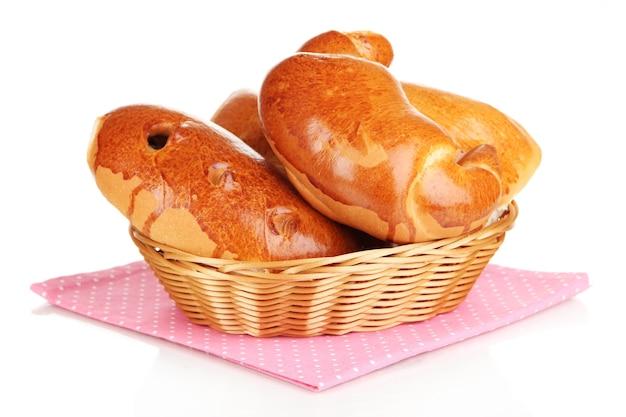 Разнообразие хлеба, изолированные на белом фоне