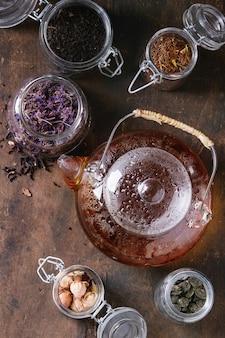 Разновидность сухого чая с чайником