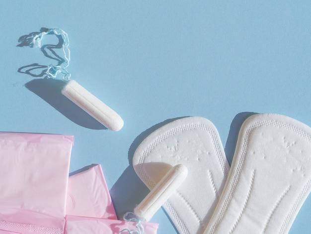 다양 한 여성 생리 위생 클로즈업